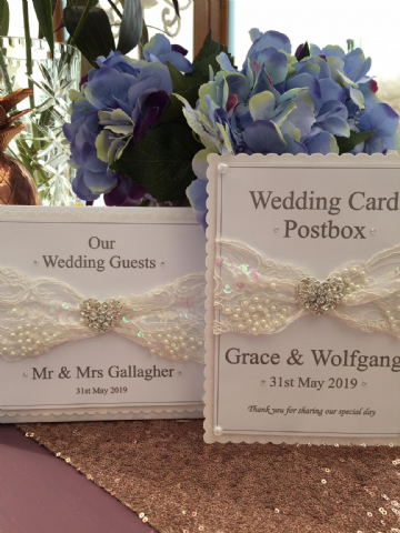 Wedding Guest Book & Postbox sign